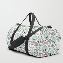 Alien and UFO pattern Duffle Bag