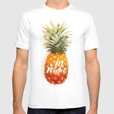 All Right. (Tropical) Mens Fitted Tee White MEDIUM