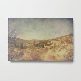Vintage dry desert landscape Metal Print