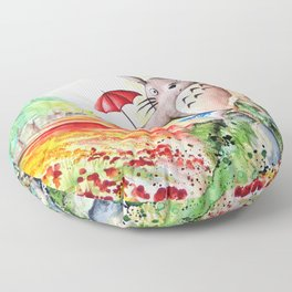 """Behind the tree"" Floor Pillow"