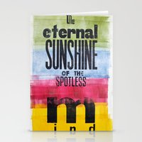 eternal sunshine of the spotless mind Stationery Cards featuring The eternal sunshine of the spotless mind by Federica Tumminello