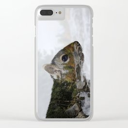 Waterfall Squirrel Clear iPhone Case