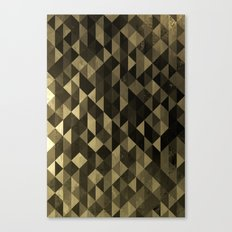 Gold triangles Canvas Print