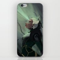 league of legends iPhone & iPod Skins featuring Diana League of Legends by ARAM Adventures