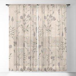 homeland flora Sheer Curtain