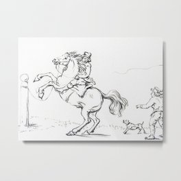 Taming A Horse By Jean Ber Metal Print