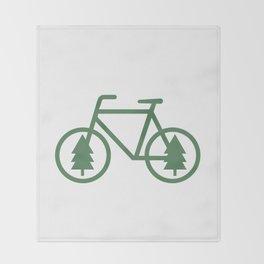 Pacific Northwest Cycling - Bike, Bicycle, Portland, PDX, Seattle, Washington, Oregon, Portlandia Throw Blanket