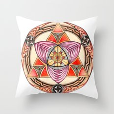 Pyramid Mandala Throw Pillow