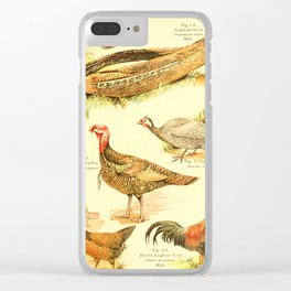 William Playne Pycraft - A Book of Birds (1908) - Plate 10: Game-birds; Pheasants, Turkey and Others Clear iPhone Case
