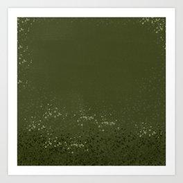 Abstract Khaki Green Pattern Art Print