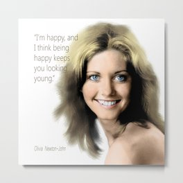 Movie star art - Olivia Newton John Metal Print