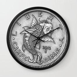 Carpe Dime Wall Clock