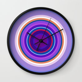 Mod Circles in Periwinkle and Purple Wall Clock