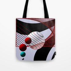 3 colors and some stripes Tote Bag