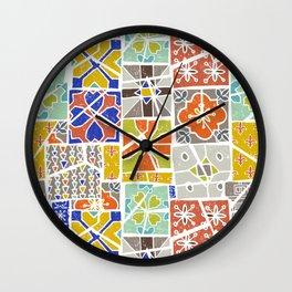 Barcelona tiles Wall Clock