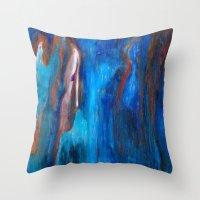 portlandia Throw Pillows featuring Father Sky by Beth Ann Short by Beth Ann Short