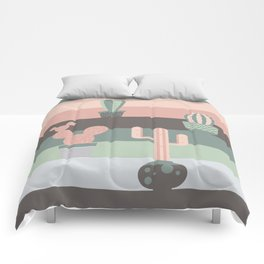 cacti colors Comforters