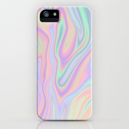 Liquid Colorful Abstract Rainbow Paint iPhone Case