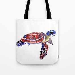 Sea Turtle Children Illustration, kids wall art Tote Bag