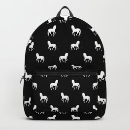 Silhouette Graphic Horses Pattern Backpack
