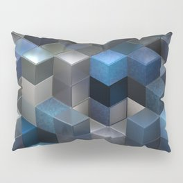 Artistic Cubes 09 blue Pillow Sham