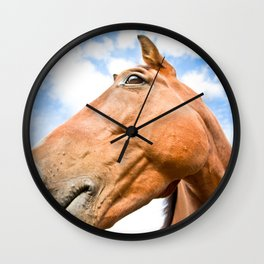 Portrait of an English horse  Wall Clock
