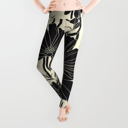 BLACK FLOWERS Leggings