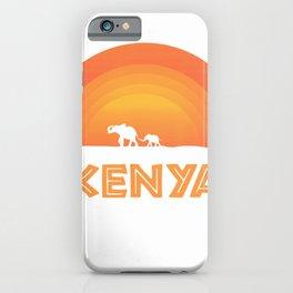Elephant Baby African Kenya Sunset Wildlife Cute Nature Gift T-Shirt iPhone Case