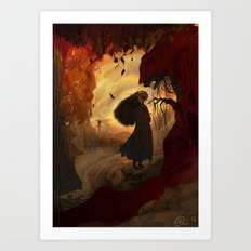 The Fall Witch Art Print