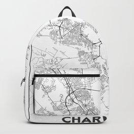 Minimal City Maps - Map Of Charleston, South Carolina, United States Backpack