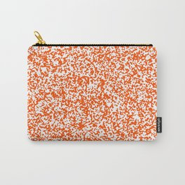 Tiny Spots - White and Dark Orange Carry-All Pouch