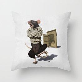 Shithouse (Wordless) Throw Pillow