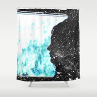 fault in our stars Shower Curtains featuring The Fault in Our Stars by CATHERINE DONOHUE