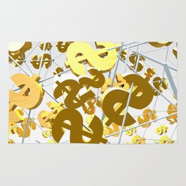 Golden dollar sign Rug