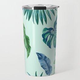 Palm Trees & Leaves Pattern Travel Mug