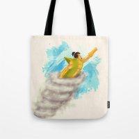 samurai Tote Bags featuring Samurai by Reg Lapid