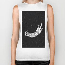André Floating Around in Otter Space Biker Tank