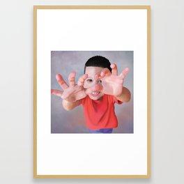 Shy Jonah Framed Art Print