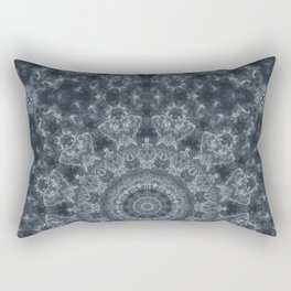 Gray - blue marble kaleidoscope, ornament elements print Rectangular Pillow