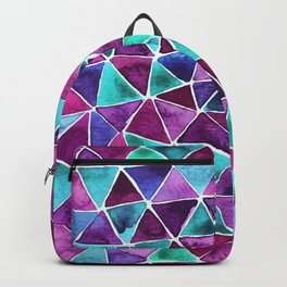 Geometric pink and blue design Backpack