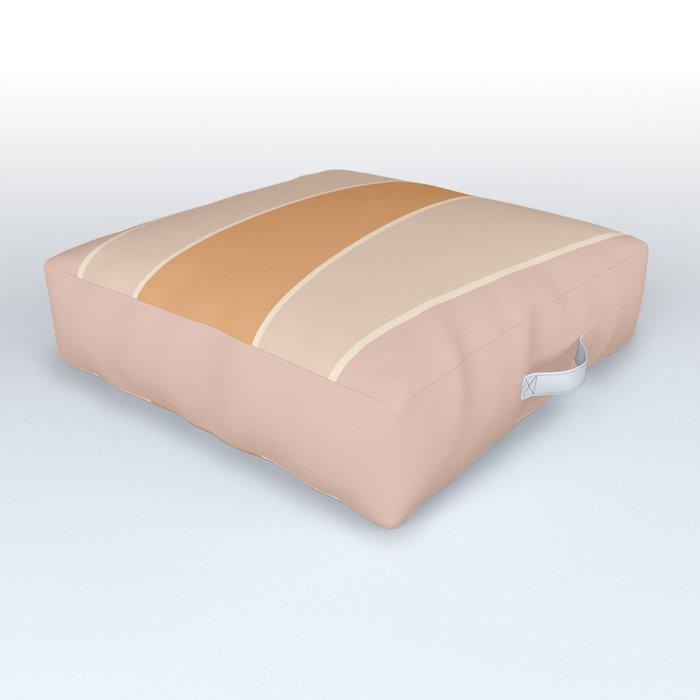 Hazelnut Color Block Outdoor Floor Cushion