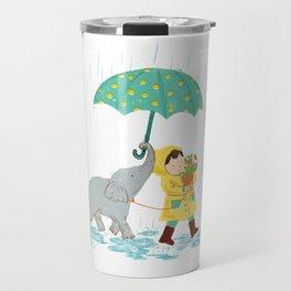 boy & elephant Travel Mug
