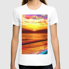 Irish sea at sunset T-shirt