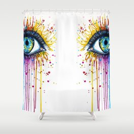 Color Eyes Shower Curtain