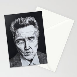 Portrait of Christopher Walken Stationery Cards