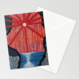 Blood Sticks Waterfalls Stationery Cards