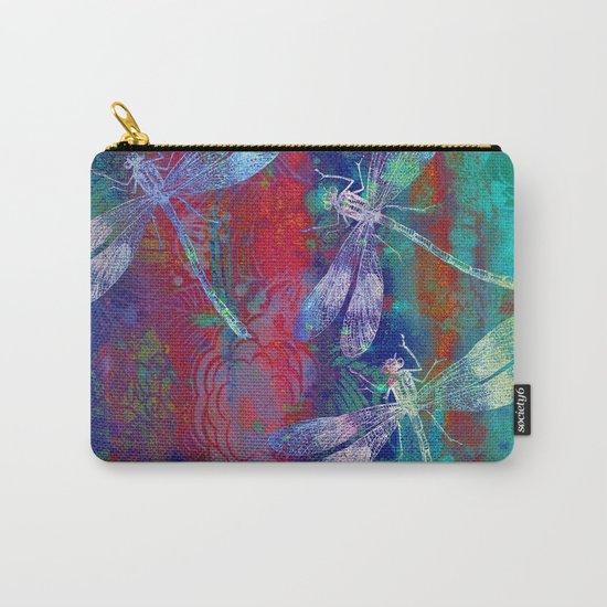 A Dragonflies QP Carry-All Pouch