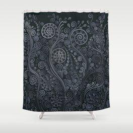 3D ornaments, soft blue Shower Curtain