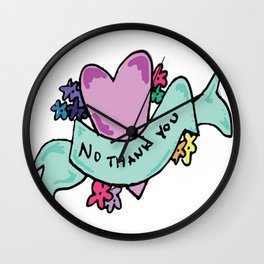No Thank You Valentine Wall Clock