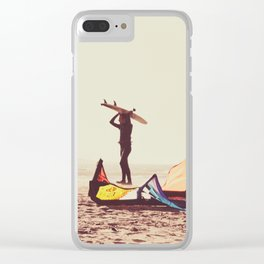Surf Junkies Clear iPhone Case
